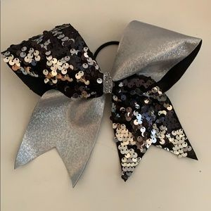Holographic Sequin Cheerleading Hair Bow